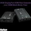 DisplayPort 1.2 KVM Fiber Extender, 300 meters