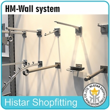 Metal wall system accessories hanging tube arms, hook shop fitting