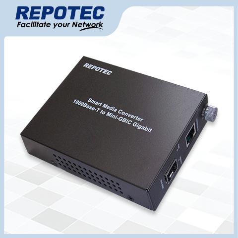1000Base-T to mini-GBIC Smart Gigabit Media Converter