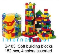 SOFT BUILDING BLOCKS, 152 PCS