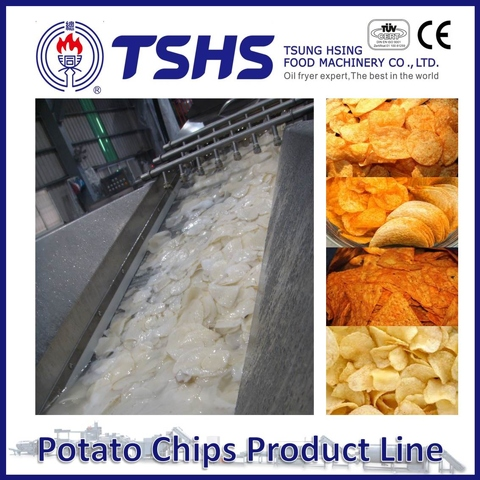 Made in Taiwan High Quality Tapioca Chips Frying Line