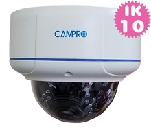 5.0MP HD-IP Vandal proof 30M IR POE Dome