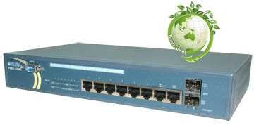PSGS-2208C/CF, an 8 Port GbE L2 Plus Managed PoE Switch with 2 SFP Dual Media