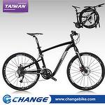 "Folding bike-Super Light CHANGE 26"" Hybrid 10.5kg DF-611MB, 100% Made in Taiwan,Size:21"