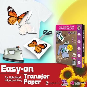 Taiwan Easy-on Transfer Paper(for light fabric/inkjet
