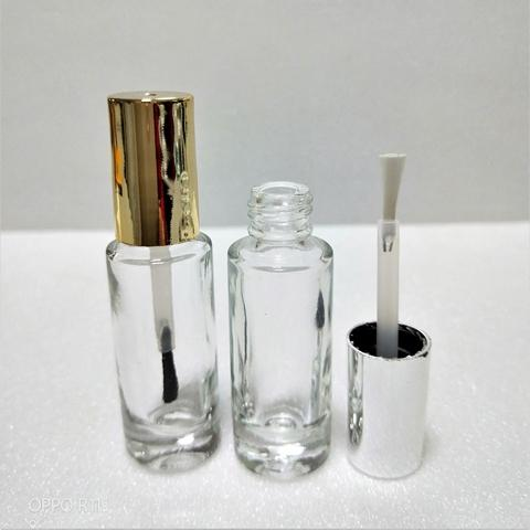 7ml Cylindrical Clear Glass Bottle With Cap Brush