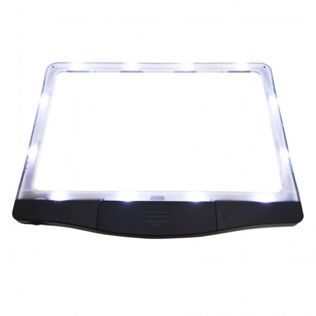 3X LED Page Reader Magnifier with 12 Dimmable Anti-Glare LED Lights