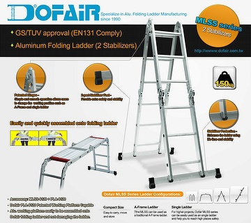 Taiwan Folding Ladder Multi Purpose Ladder Aluminum
