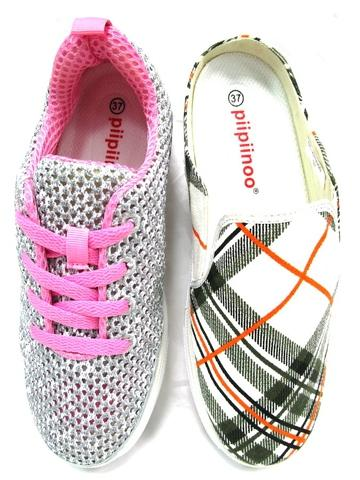 Slip-on Convertible Shoes - Pack with 2 different design shoes-EUR 37