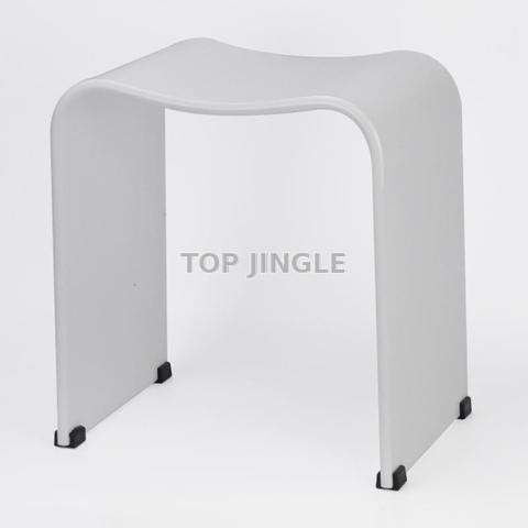 Astonishing Black Acrylic Bathroom Stool Taiwantrade Com Customarchery Wood Chair Design Ideas Customarcherynet