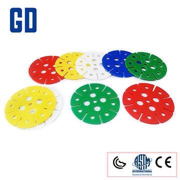11cm/6cm button round flower