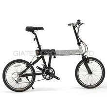 "【GIATEX】20"" Stretching Bike Portable Bicycle Compact Bike 18 Speed / Frame Adjustable -  Mat Black"