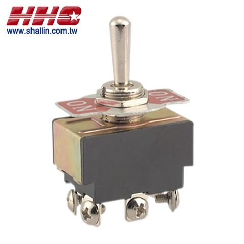 6P 3 ways toggle switch (DPDT) on-off-on