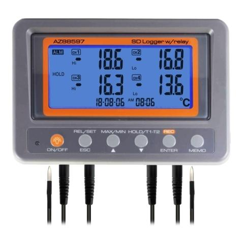 88597 AZ 4 Channel Thermistor Recorder with Relay