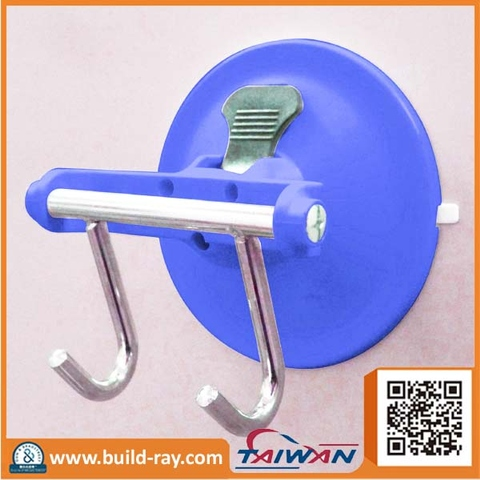 High suction power Multi-function Bathroom Double Hook With Suction Cup