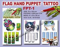 Flag Hand Puppet Tattoo, Tattoo, Tattoo Sticker