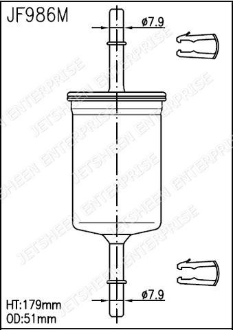 fuel filter gki fg986
