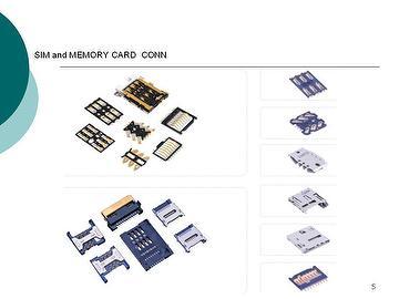 SIM AND MEMORY  CARD CONN. SERIES