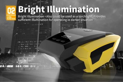 LED Digital Display Smart Tire Air Compressor Pump