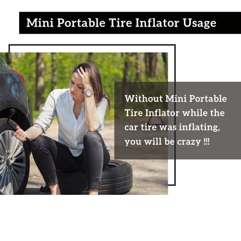 Mini car tire inflator