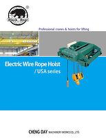 Electric Wire Rope Hoist -USA Low Headroom Type