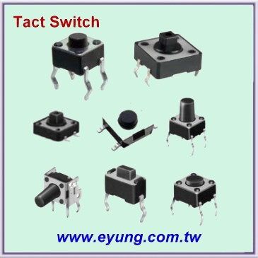 Tact Switch with soldered lead
