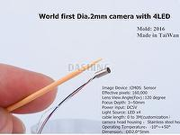 Tiny (Dia. 2.0mm / Pixel 160 K) CMOS camera module with 4LED