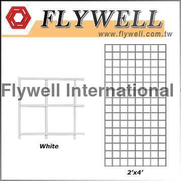 Taiwan White Display Metal Welded Wire Mesh Grid Wall Panel ...