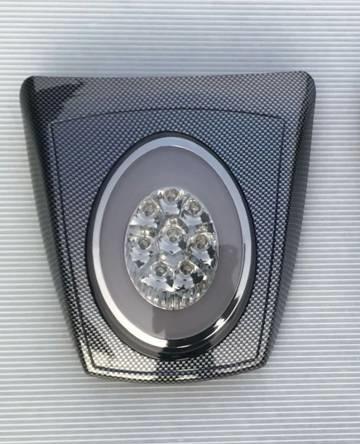 VESPA LED REAR LIGHT CARBON LOOK HOUSING SMOKE LENS E-MARK