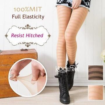 Fashion Nylon Resist Hitched Pattern Tights