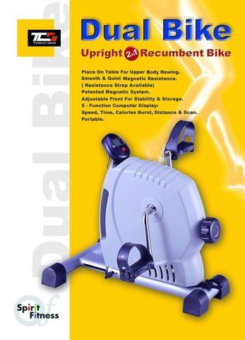 Spirit Dual Bike, Magnetic Pedal Exerciser