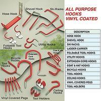 All Purpose Hooks Vinyl Coated
