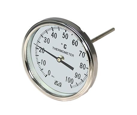 Bimetallic back mount Thermometer