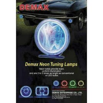 Neon tuning lamp, supplied by Demax, best auto part supplier in Taiwan