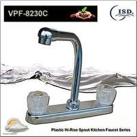 """8"""" Hi-Rise Spout Kitchen Faucet, Centers Widespread Kitchen Faucet"""