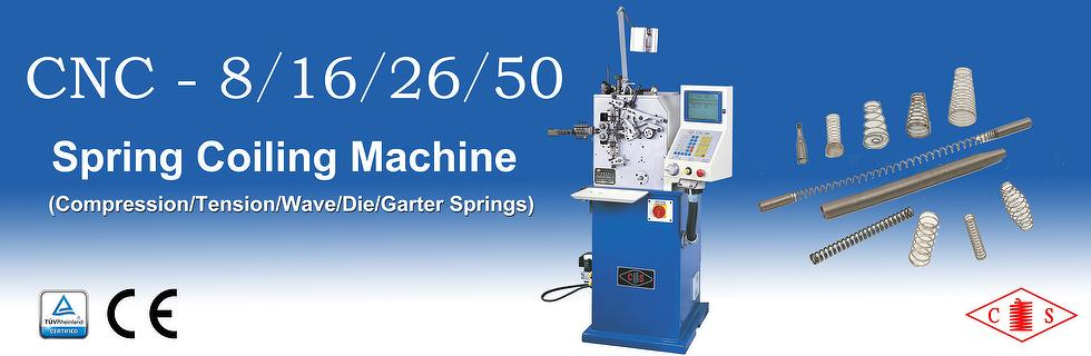 CS Spring Coiling Machine CNC-8/16/26/50