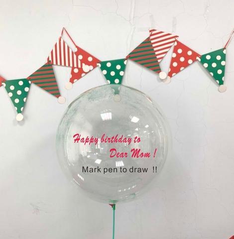 "18 & 24"" Clear Deco Bubble Balloon"