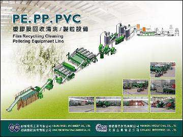 PE film/bag recycling machinery