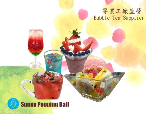 3.4kg Taiwan Supplier Sunnysyrup Green Apple Popping Boba