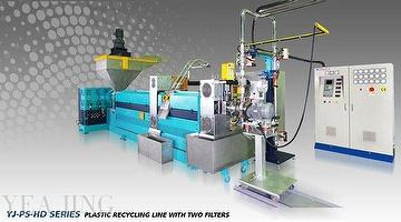 YJ-PS-HD PLASTIC RECYCLING LINE WITH TWO FILTERS