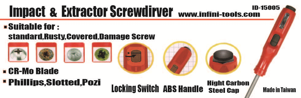 Go through Impact and screw extractor screwdriver