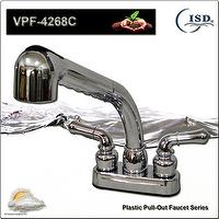 "4"" Pull-Out series Plastic Faucet w/ Dual Lever style Handles"