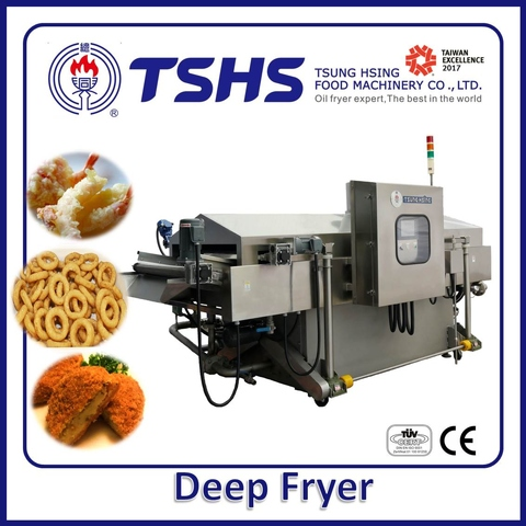 Taiwan Industrial Continuous Stainless Steel Chicken Gas Fryer
