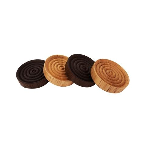 Plain And Brown Wood Round Checkers