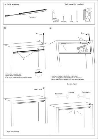 profile lamp  user's manual