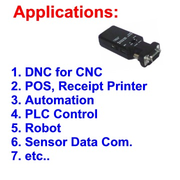 Bluetooth RS-232 adapter Applications, Bluetooth RS232
