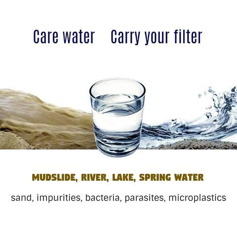 Portable purifier Hollow fiber membrane Pocket water filter