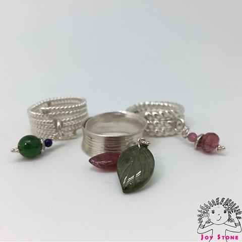 925 Silver Natural Stones Rings