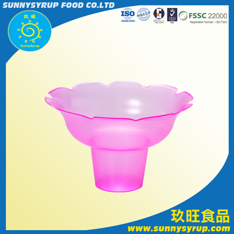 Snow Ice Supplier Plastic Snow Ice Container Flower Tray