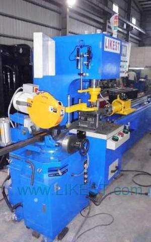 tube punching and cutting machine